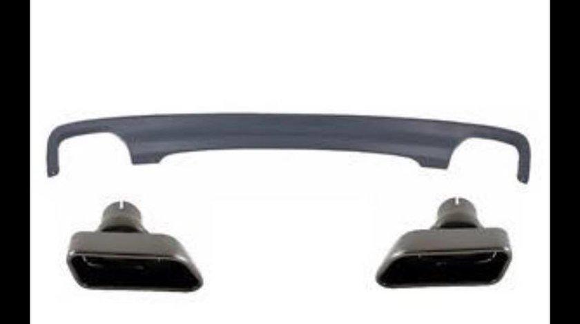 Ornamente tobe Tips evacuare cu Difuzor sport BMW F10 F11 seria5 Chrome Black 550d 650d