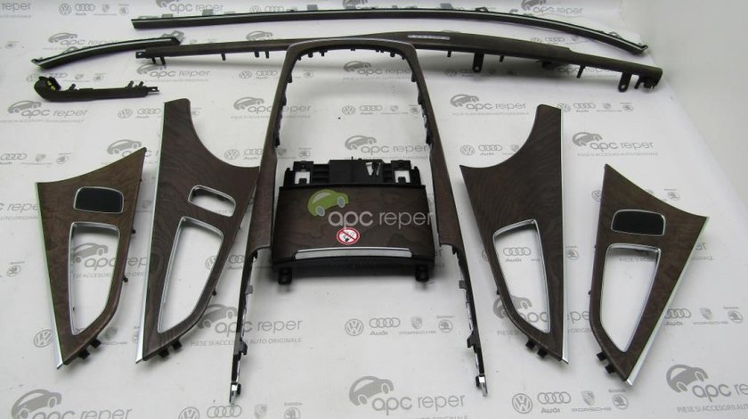 Ornamente / Trimuri Audi A7 4G - lemn mat - walnut Rot / Grey Brown