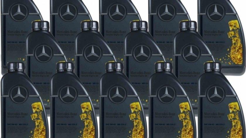 Pachet 14 Buc Ulei motor Mercedes-Benz 229.3 5W-40 1L