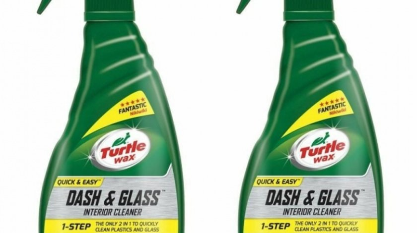 Pachet 2 Buc Turtle Wax Solutie Curatat Bord Si Geamuri Dash And Glass Interior Cleaner 500ML FG52803