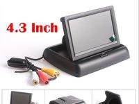 Pachet Asistenta la Parcare Cu Monitor Video Auto Rabatabil Lcd 4 3 Inch si Camera Marsarier Universala 350 lei