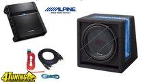 Pachet Bass Subwoofer Alpine Sbg 1244br 800w 250w ...