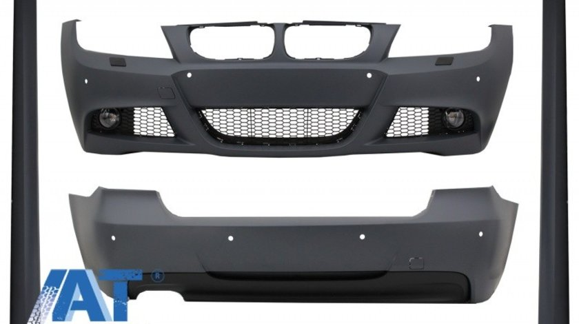 Pachet Exterior compatibil cu BMW Seria 3 E90 LCI Sedan (2008-2011) M-Technik Design