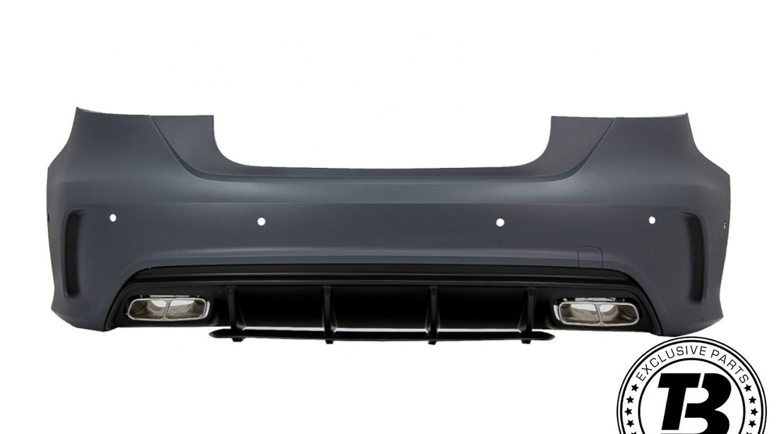 Pachet Exterior cu Grila Neagra compatibil cu Mercedes A-Class W176 (2012-2018) Facelift A45 Design