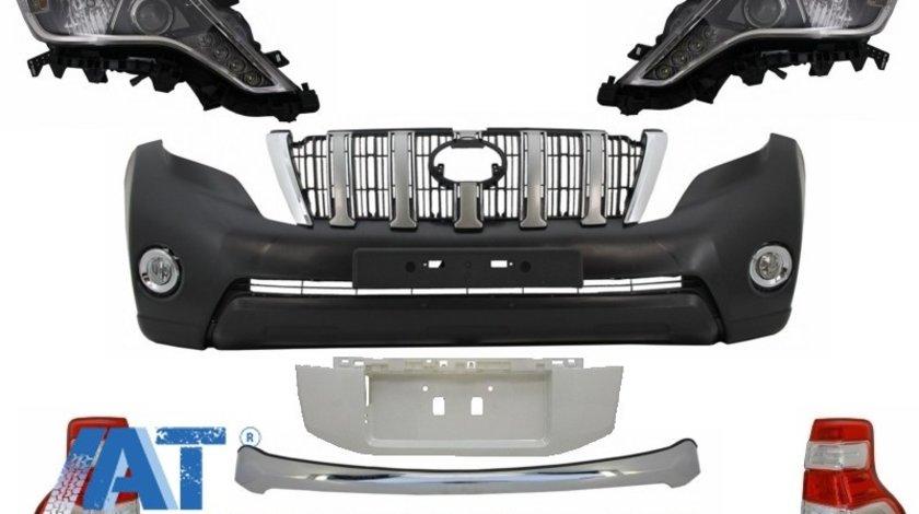 Pachet exterior Kit Conversie Complet Facelift 2014+ look compatibil cu TOYOTA Land Cruiser Prado J150 2009-2013
