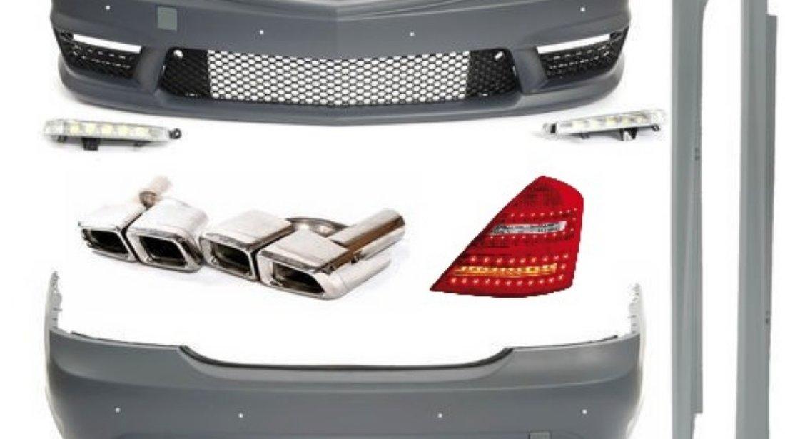 Pachet exterior Mercedes S Class W221 Bara fata Spate Praguri Tobe Stopuri