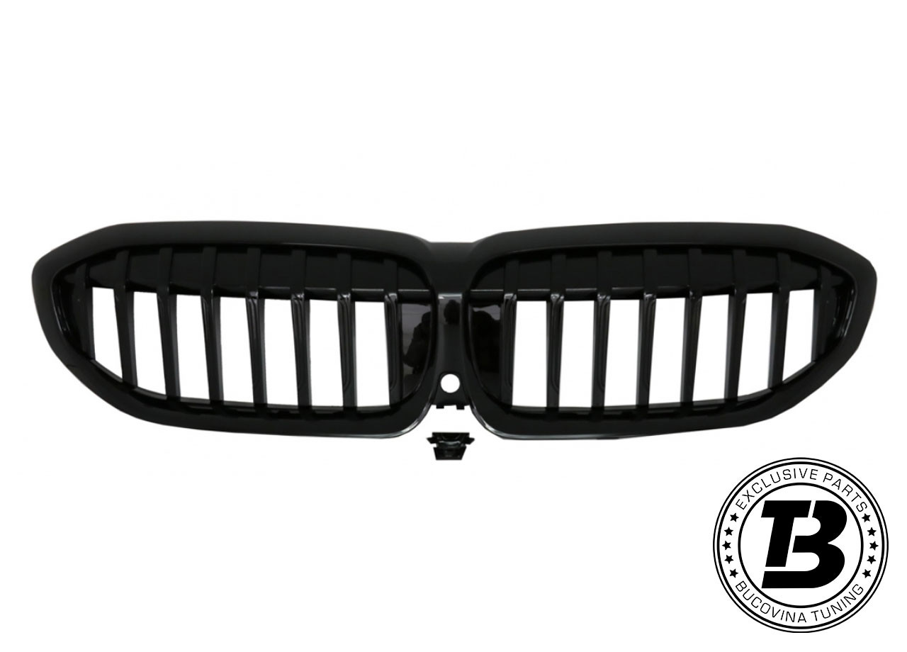 Pachet Exterior Prelungiri BMW Seria 3 G20 (18-19) M Design Negru Lucios