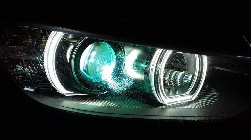 Pachet Far BMW F30 Lupe Bixenon+Xenon Canbus+Angel Eyes DTM
