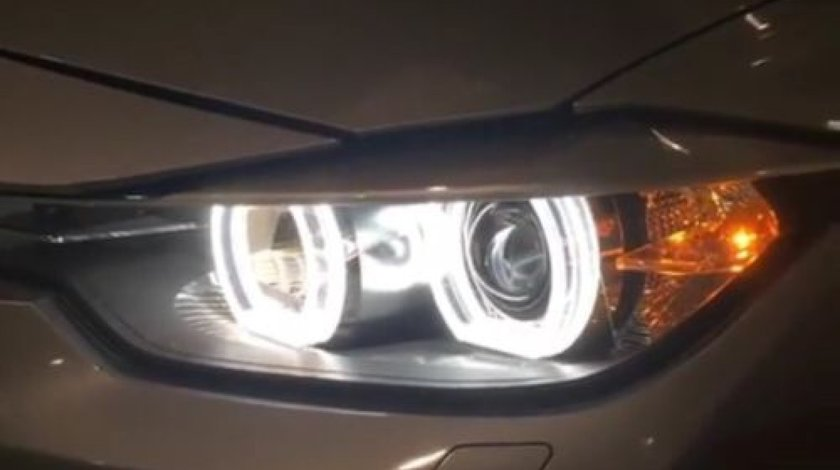 Pachet Far BMW F30 Lupe Bixenon+Xenon Canbus+Angel Eyes DTM