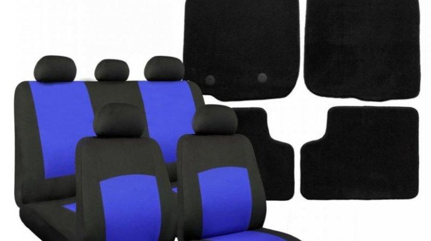 Pachet Huse Scaun Oxford Albastru IN3048 + Covorase Mocheta Dedicate Dacia Sandero Ro Group IN2116