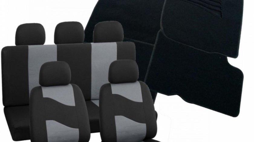 Pachet Huse Scaun Rider Gri + Covorase Mocheta Dacia Logan Ro Group