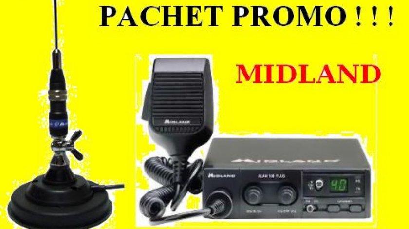 PACHET PROMO STATIE RADIO ALAN 100 PLUS CU ANTENA MAGNETICA DE LA MIDLAND