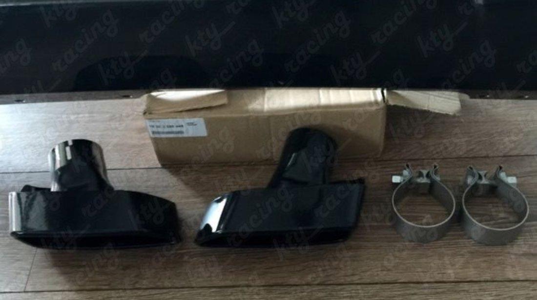 PACHET RETROFIT 550d Ornament toba tips BMW Seria 5 F10 F11 Chrome si Black ⭐ ⭐ ⭐ ⭐ ⭐