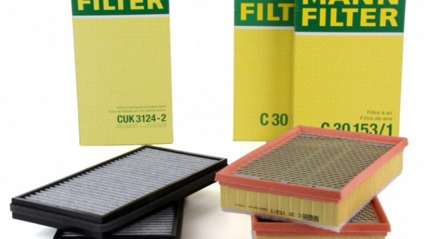 Pachet Revizie Filtru Aer + Polen Mann Filter Bmw Seria 7 E65, E66, E67 2001-2009