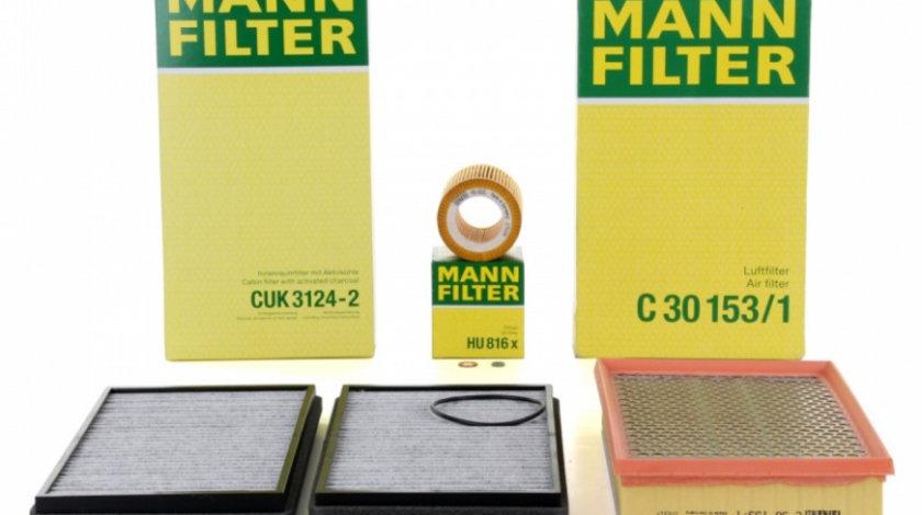 Pachet Revizie Filtru Aer + Polen + Ulei Mann Filter Bmw Seria 7 E65, E66, E67 2001-2009