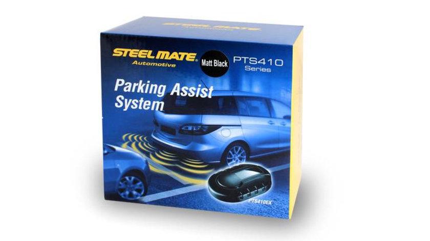 Pachet senzori de parcare pentru bara metalica spate STEELMATE fara display, 4° inclinatie
