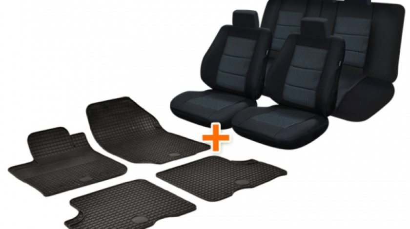 Pachet Set Huse Scaun + Set Covorase Auto Cauciuc Umbrella Dacia Logan 1 2004-2012 44340