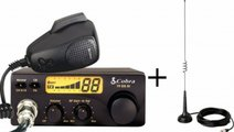 Pachet Statie Radio Auto CB Cobra 19DX + Antena CB...
