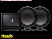 Pachet Super Bass 2 x Subwoofer Alpine SWR 1243D 1600W Amplificator Alpine PDX M12