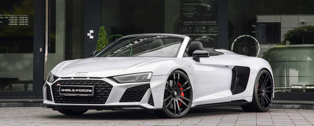 Pachetul de tuning costa cat un Porsche nou-nout dar duce Audi-ul R8 pe teritoriul hypercar-urilor. Cati CP are
