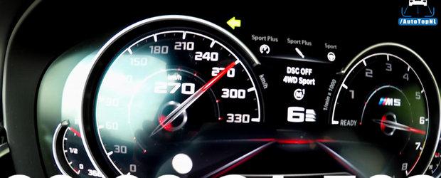 Pana si haterii sunt impresionati de acceleratia noului M5. Uite cat de rapid ajunge la 308 km/h