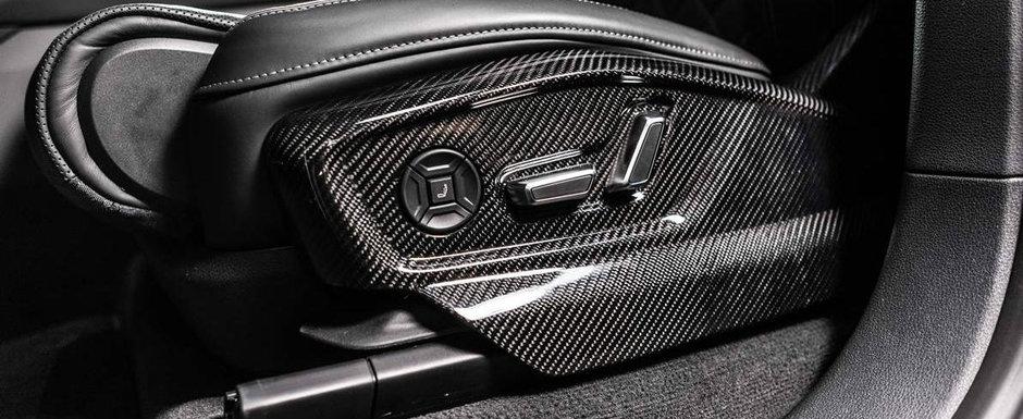 Pana si partea inferioara a scaunului este din carbon. Cum arata in rest Audi-ul Q8 tunat de ABT