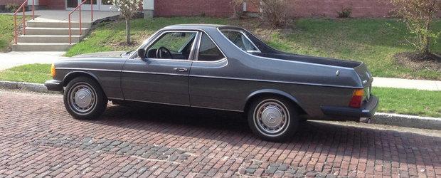 Pana unde duce pasiunea pentru tuning: Mercedes 300TD transformat in... pick-up