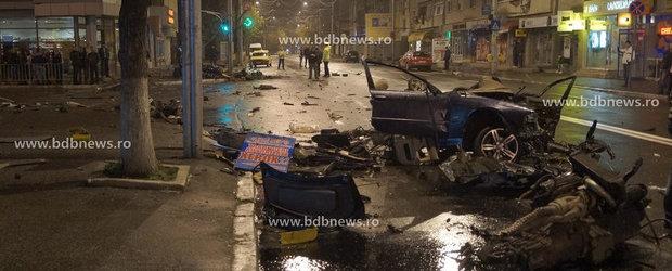 Pana unde duce teribilismul: Un BMW a fost facut bucati, la Barlad, de un tanar de 18 ani
