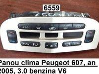 Panou clima Peugeot 607