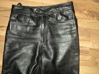 pantaloni moto chopper rock strada marimea 52 -piele naturala
