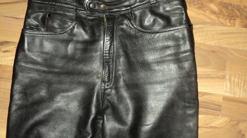 pantaloni moto motociclisti din  piele naturala (veritabila)