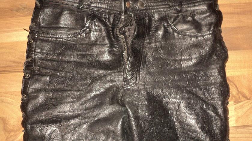 pantaloni moto piele naturala ROAD ,piele moale ,stare perfecta
