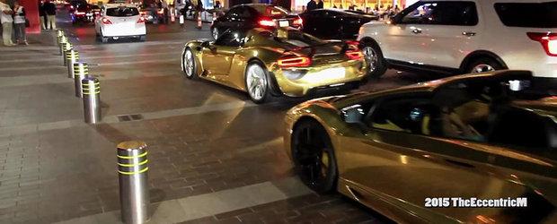 Parada masinilor aurii din Dubai: 918 Spyder, Aventador, G63 AMG 6x6 etc.
