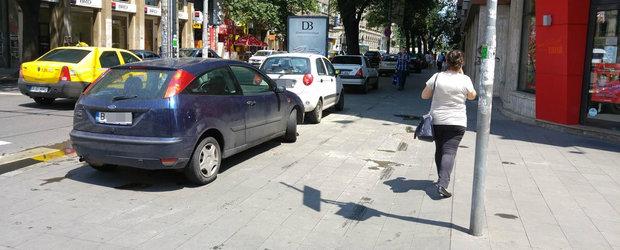 Parcarea masinii pe trotuar, la limita legalitatii