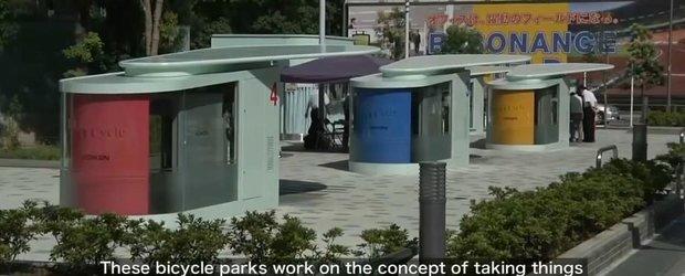 Parcarile pentru biciclete din Japonia te fac sa te simti in epoca de piatra