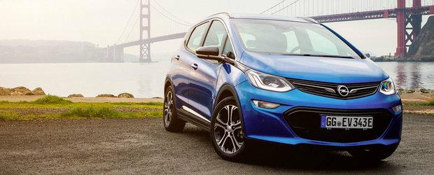Parcurge 520 km fara sa consume vreun strop de benzina ori motorina. Poze noi cu Opel Ampera-e