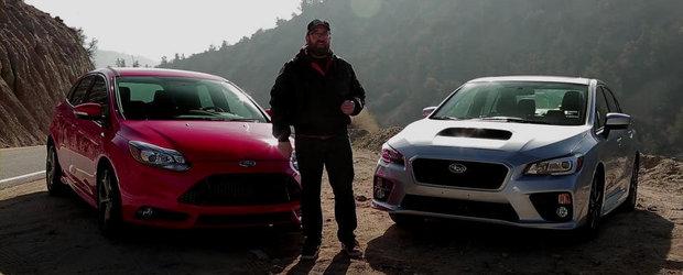 Pariul de 30.000 dolari: Ford Focus ST versus Subaru WRX. Tu ce alegi?