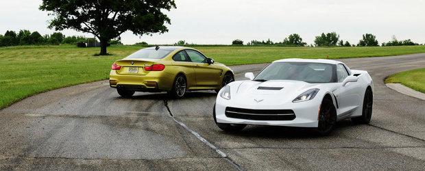 Pariul de 65.000 dolari: BMW M4 vs Corvette Stingray. Tu ce alegi?