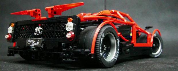 Pasiune fara limite: Pagani Zonda din piese LEGO