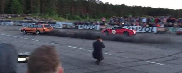Passat-ul diesel care afuma un Ferrari 458 Italia