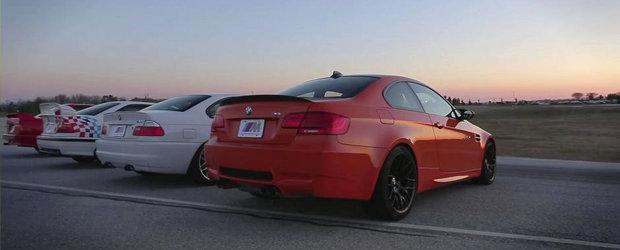Patru generatii BMW M3, un singur circuit: M3 E30, M3 E36, M3 E46 si M3 E92 isi dau intalnire in SUA