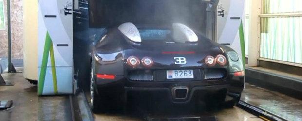 Pe bune?! NU asa se spala un Bugatti Veyron...