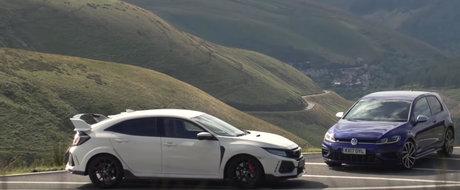 Pe hartie sunt aproape identice, insa in realitate lucrurile stau altfel. Test comparativ cu Golf R si Civic Type R