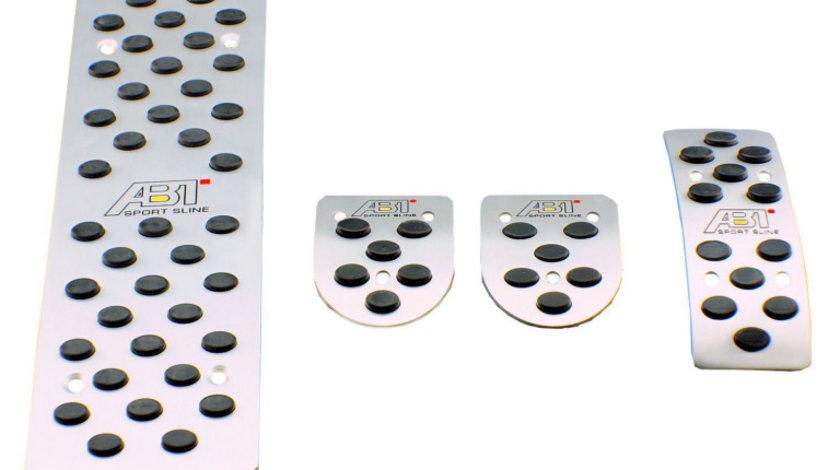 Pedale Sport Aluminiu + Pedala Repaus Audi A6, Transmisie Manuala cu Sigla Audi