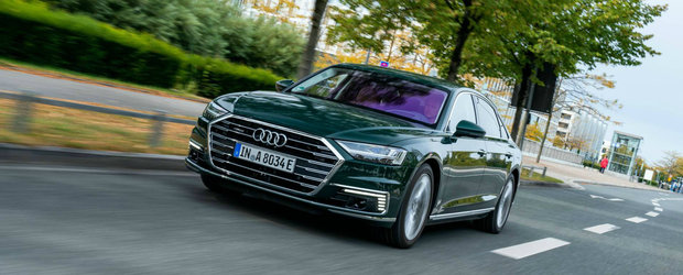 Pentru prima data in istorie, Audi lanseaza un A8 PLUG-IN HYBRID cu 449 CP si consum de scuter