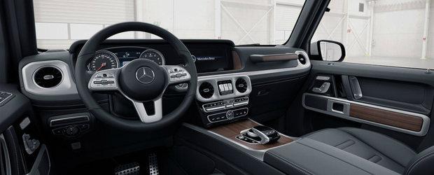 Pentru tapiteria din piele trebuie sa platesti 10.000 de euro in plus. Uite cum arata cel mai ieftin Mercedes G-Class