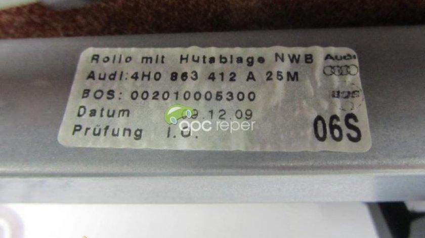 Perdeluta electrica cu placa alcantara Audi A8 S8 4H originala