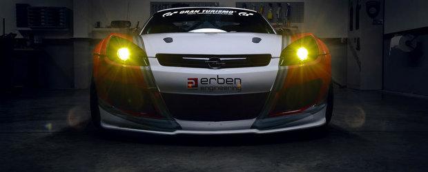 Perfectiune pentru circuit: Opel GT cu motor de Corvette si frane de Porsche