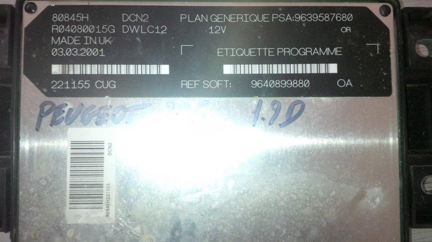 peugeot 206 1.9d  9640899880 PSA 9639587680