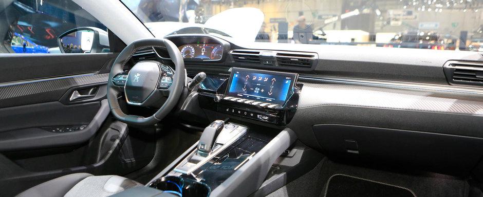 Peugeot a lansat noul 508 la Geneva. POZE de la fata locului cu rivalul lui Passat